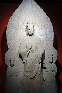 北朝石刻一佛二菩萨像