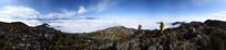 汶川盘龙山云海全景图