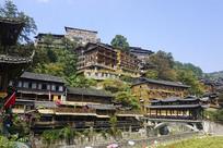 贵州西江千户苗寨民居和风雨桥