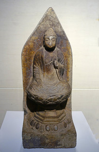 唐代石刻释迦佛坐像