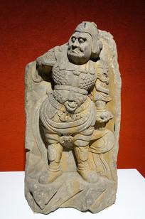 唐代石刻天王像