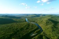 大兴安岭林区蓝色河流