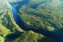 大兴安岭林区林激流河风景