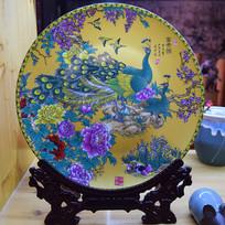 富贵图瓷盘工艺品