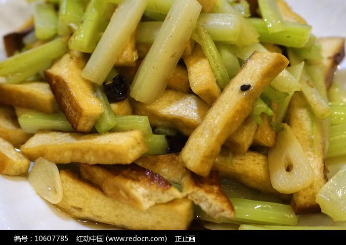 贵州荔波特色美食芹菜炒豆干图片