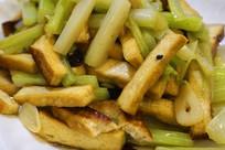 贵州荔波特色美食芹菜炒豆干