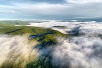 航拍大兴安岭森林云海