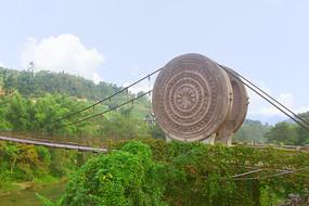 黔南荔波小七孔景区的铜鼓桥