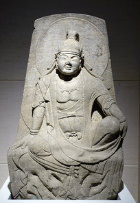 清代仿唐石刻菩萨坐像