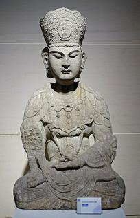 清代仿五代石刻菩萨坐像