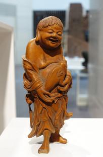 清代木雕和合二仙像