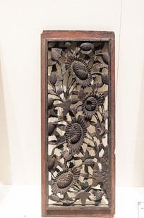 清代木雕花板