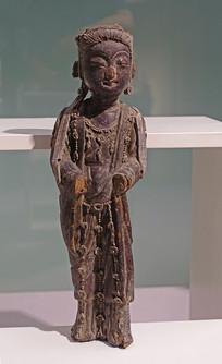 宋代木雕供养人像