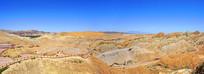 张掖七彩丹霞的彩色丘陵