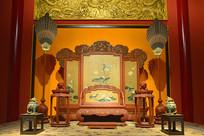 北京故宫博物院皇帝宝座间