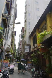 越南河内餐饮休闲街