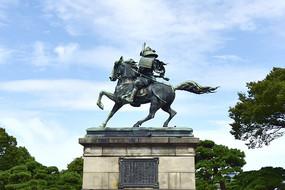 日本东京皇居外苑的将军雕像