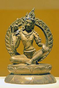 西藏噶厦政府朝贡的铜文殊菩萨像