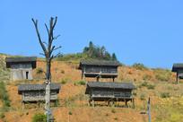 贵州苗寨苗族的吊脚楼