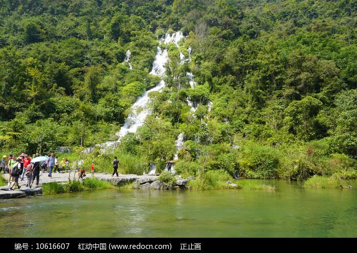 小七孔翠谷湿地的翠谷瀑布图片