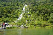 小七孔翠谷湿地的翠谷瀑布