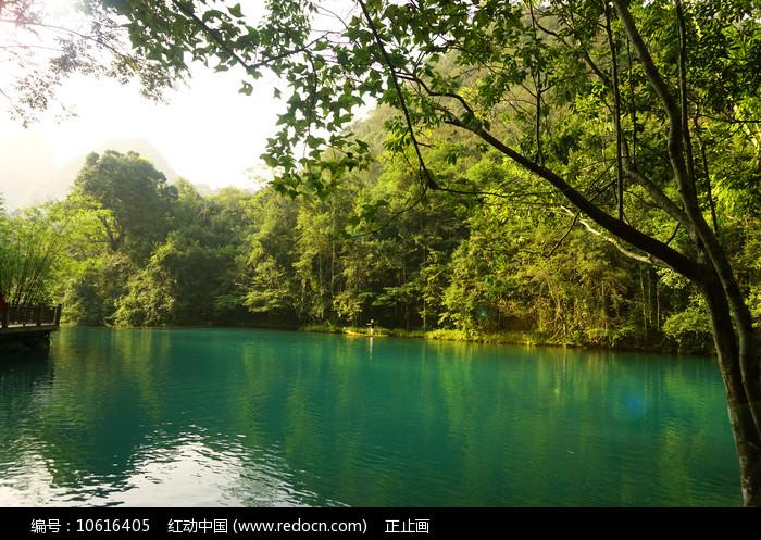 小七孔景区卧龙潭的青山绿水 图片