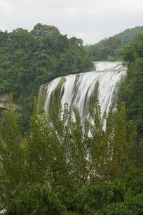 远眺贵州黄果树瀑布