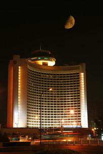 北京国际饭店月色