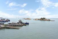 俯拍的嵊泗码头