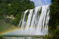 贵州安顺黄果树大瀑布彩虹奇观