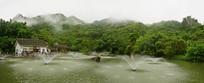 贵州天星桥高老庄和天星湖全景