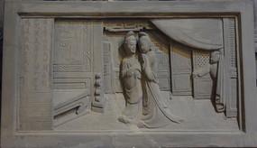 古装人物雕刻