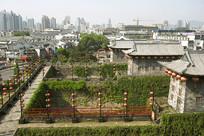 南京中华门明城墙及城楼俯拍