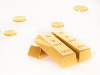 三根金条和金币组合图