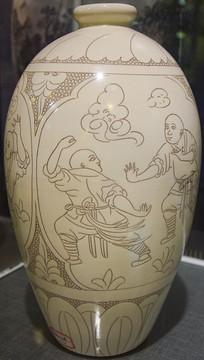 陶瓷瓶文物展示