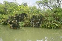 天星盆景区的水景