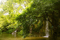 天星桥景区水上石林瀑布小景
