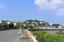 嵊泗县洋山镇的沿海马路