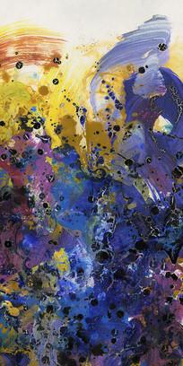 流彩山水意境抽象画