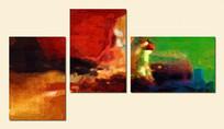 三幅组合抽象艺术油画