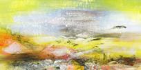 山水风景抽象画