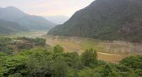 四川省汶川县岷江上游河谷俯拍