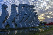 白马湖雕塑