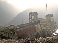 汶川县地震中的映秀中学遗址