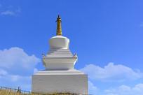 阿坝唐克草原索格藏寺藏族白塔
