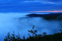 大兴安岭森林云雾晨光