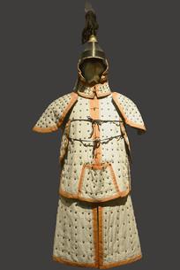 清代八旗盔甲制服-镶白旗