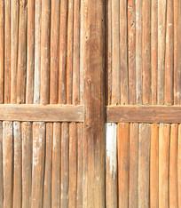 原生态农家小木屋原木墙壁