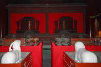 北京孔庙大成殿孔子和颜子牌位