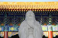 北京孔庙大成门及孔子像